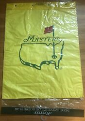 Vintage Masters Augusta National Yellow House Flag Golf Flag Brand New Package