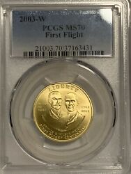 2003 West Point 10 Gold First Flight Pcgs Ms70