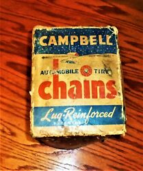 Campbell Chain Company Usa Tire Chains Vintage