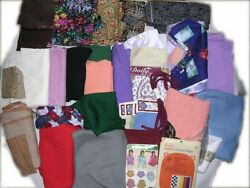 Lot About 30 Items 20 Lbs Clothing-fabric Doilies Tracing Paper Etc. New Vintage
