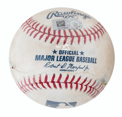 Ronald Acuna Debut And 1st Hit Game Used Baseball Gu Ball Mlb Authenticated