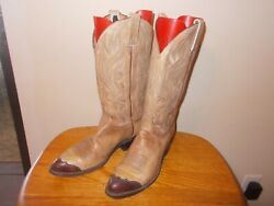 Men's Dan Post J1024 Hand Made Leather Pull On Lizard Tip Western Boots Size8.5D