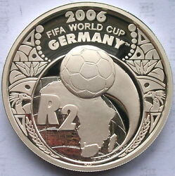 South Africa 2005 World Cup 2 Rand 1oz Silver Coinproof