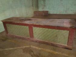 1890 Country Store 10ft Counter Original Red Green Paint Option On Matching Pair
