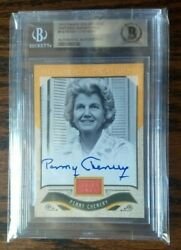 Penny Chenery Beckett Authentic Autograph Card In Encapsulated Display Case