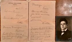 Pietro Mascagni Letter From Trieste Hotel And039and039leaving Darling Sending Hugsand039and039 1895