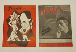 2 Vintage Script Magazines Script By Rob Wagner Features Leo Politi