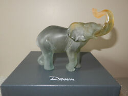 Daum Crystal Elephant + Box - Petit Modele 02418 Trunk Up for Good Luck 7