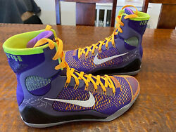 Kobe Bryant Dual Signed Game Issued PE Shoes PSA DNA Coa IX Elite Lakers