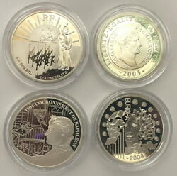 France 2003-05 Napoleon And Great Europe Set Of 4 Silver Coinsproof
