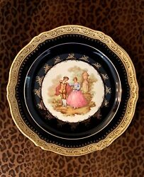 Limoges Castel France 9.75 Inch Decorative Plate Lovers In Park