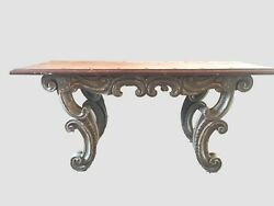 Antique Spanish Revival Wood Table From Peru. 2800 Plus Shipping
