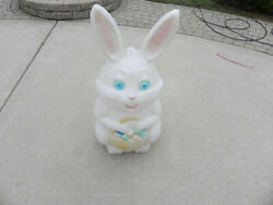 Empire Easter Bunny Blow Mold With Egg Basket 34