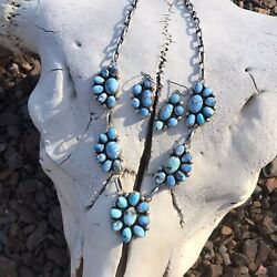 Golden Hill Turquoise Necklace Set By Kathleen Chavez Signed