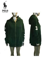 Vintage 90's Zip Up Polo, Hoodie, Col Green, Size Xl