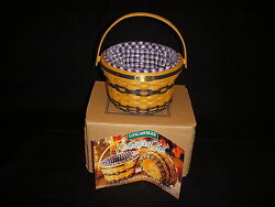 Longaberger J.w. Collection Miniature 1998 Edition Apple Basket Combo In Box