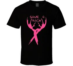 Save A Rack Black Breast Cancer Awareness T Shirt $41.99