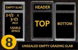 8 Empty Professional Unsealed Graded Card Slabs Holder For Grading New Usa