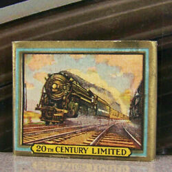 Vintage Matchbook M7 Railroad Train New York Central Water Level 20th Century Ld