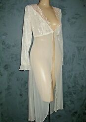 Claire Pettibone Robe Ankle Length S Ivory Design Original Couture New No Tags