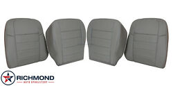 2005 Dodge Magnum - Driver And Passenger Bottom/lean Back Leather Seat Covers Gray
