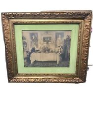 Antique Vintage Framed And Signed Andlsquodarby And Joanandrsquo By Dendy Sadler Colored Lithogr