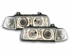 Xenon Angel Eye Headlights Headlamps For Bmw E36 3 Series Coupe And Cabrio