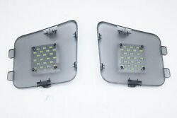 Rear Trunk Boot Led White Tail Gate Lights Luggage For 16-19 Mazda 3 Hatchback