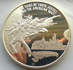 United States 1988 Supper Man 12oz Silver Medal,rare