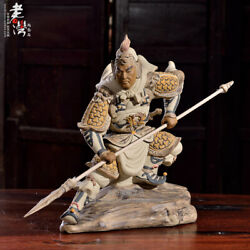 Old Chinese Ceramics Porcelain Title Of Cavalry General Ma Chao Ornament Statue