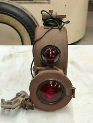 Original Vintage Emergency Tail Trouble Light W Bracket Tractor Truck Old Jeep