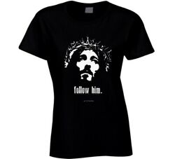 Jesus Christ Follow Him Christian Shirt Resurrection Gift Ladies T Shirt