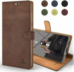 Samsung Galaxy S20 Case Genuine Leather Wallet with Viewing Stand and Card