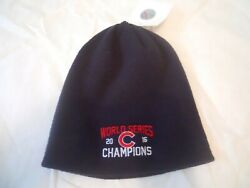 Chicago Cubs Winter Hat World Series Champions 2016 Navy Official Product New