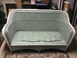 Antique 3 Pc Wicker Set - High Quality - Sofa, Chair And Rocker