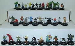 Marvel Heroclix Incredible Hulk Ih Cur Complete Set Common Uncommon Rare 36 Figs