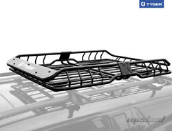 Tyger Roof Mounted Cargo Basket Luggage Carrier Rack Heavy Duty L57.5xw42xh6