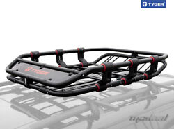Tyger Roof Mounted Cargo Basket Carrier Rack Super Duty - L52xw41.3xh8.3