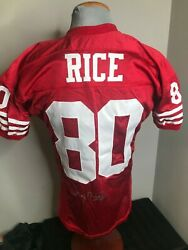 Nfl Authentic Pro Line Wilson-san Francisco 49ers Jerry Rice Jersey Signed Sz.46