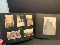 Huge 1926 Photo Album Tour Of Europe Ss Pittsburgh France Holland England