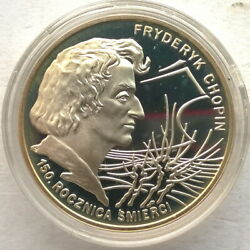 Poland 1999 Chopin 10 Zlotych Silver Coin,proof
