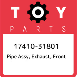 17410-31801 Toyota Pipe Assy Exhaust Front 1741031801 New Genuine Oem Part