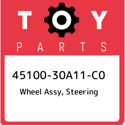 45100-30a11-c0 Toyota Wheel Assy, Steering 4510030a11c0, New Genuine Oem Part