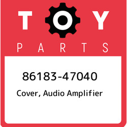 86183-47040 Toyota Cover Audio Amplifier 8618347040 New Genuine Oem Part