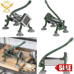 3 8quot; French Fry Potato Cutter Commercial Restaurant Pub Countertop Slicer Dicer $65.99