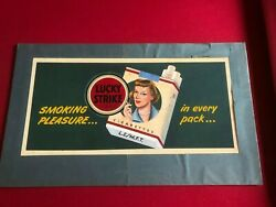 1940and039s Lucky Strike Original Art Board And Book Rare Vintage