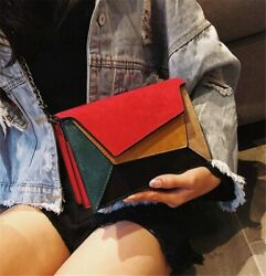 Retro Matte Patchwork Cross body Bags for Women Bags Chain Strap Shoulder Bags $21.76