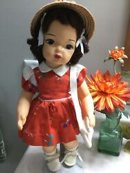 Doll 16 Terri Lee In Shorthand Secret Dress Raysheen Wig 1950and039s