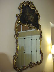 Antique Louis Xv Style French 12 Pieces Wall Mirror W/gilt Wooden Frame, 62 T