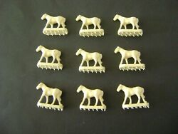 Lionel 3366-100 Set Of 9 White Horses For The Circus Car And Corral